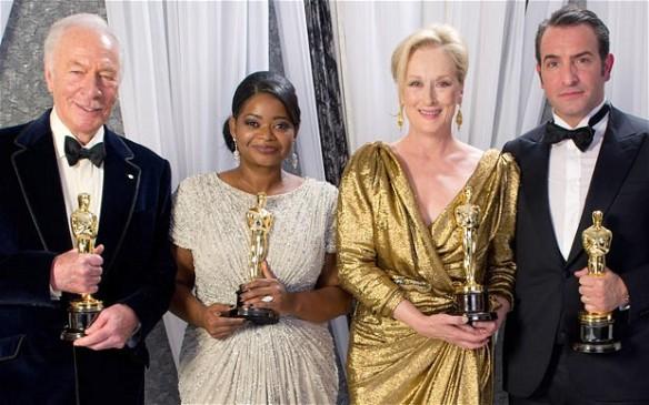Jean Dujardin, Meryl Streep, Octavia Spencer, Christopher Plummer