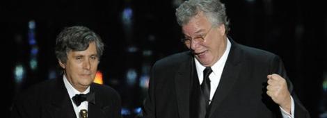 """Tom Fleischman y John Midgley recibieron el Oscar a Mejor Mezcla de Sonido por """"Hugo"""""""