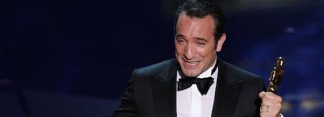 """Jean Dujardin recibió el Oscar a Mejor Actor por la película """"The Artist"""""""
